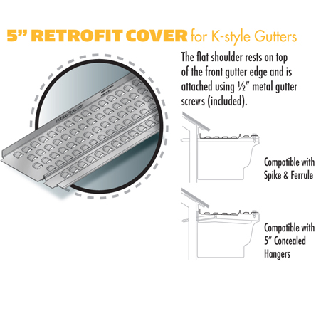 5-inch Retrofit Cover for K-style Gutters